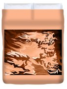 Flaming Horse   -023 Duvet Cover