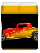Flaming Hot Rod Duvet Cover
