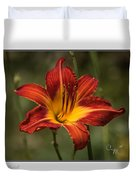 Flaming Lily Duvet Cover