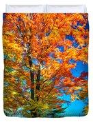 Flaming Maple - Paint Duvet Cover