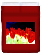 Flaming Red Tulips Duvet Cover