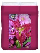 Flaming Tiger Lily Duvet Cover