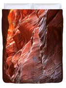 Flaming Walls Of Sandstone Duvet Cover
