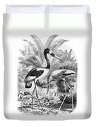 Flamingo & Jabiru Duvet Cover