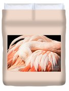 Flamingo Abstract Duvet Cover