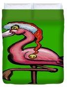 Flamingo Christmas Duvet Cover