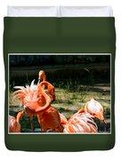 Flamingo Colony Duvet Cover