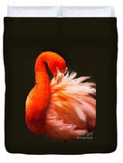 Flamingo Fluff Duvet Cover