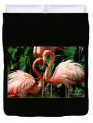 Flamingo Heart Duvet Cover