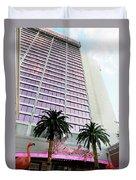 Flamingo Hotel Neon Sign Las Vegas Duvet Cover