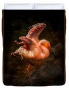 Flamingo In Darkness Duvet Cover