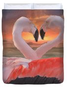 Flamingo Love Duvet Cover