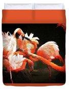 Flamingo Mingles Duvet Cover