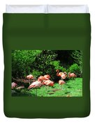 Flamingo Party Duvet Cover