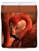 Flamingo Poised Duvet Cover
