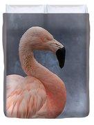 Flamingo Profile Duvet Cover