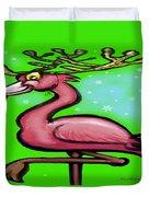 Flamingo Reindeer Duvet Cover
