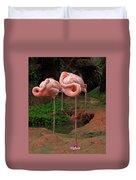 Flamingo See Flamingo Do Duvet Cover