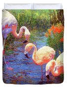 Flamingo Tangerine Dream Duvet Cover