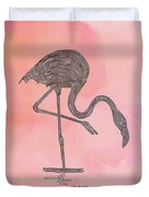 Flamingo4 Duvet Cover