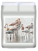 Flamingos Family Duvet Cover