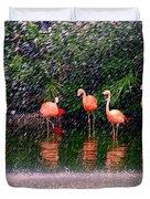 Flamingos II Duvet Cover