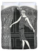 Flapper Opening A Curtain Duvet Cover