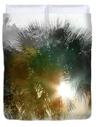 Flared Textured Palm Duvet Cover