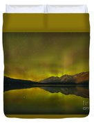 Flaring Northern Lights Duvet Cover