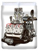Flat Head V 8 Engine Duvet Cover