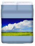 Flat Open Grassland And Sky Duvet Cover