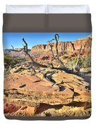 Flat Rock Along Scenic Drive Duvet Cover