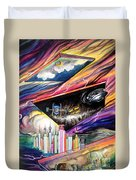 Flat Space. Total Ground Zero Duvet Cover