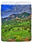 Flatirons And Clouds Duvet Cover