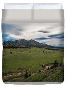 Flatirons From South Trails Duvet Cover