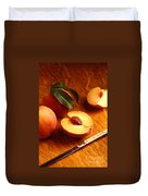 Flavorcrest Peaches Duvet Cover