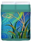 Flax Harakeke By Reina Cottier Duvet Cover