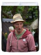 Flea Market Sales Man Duvet Cover