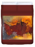 Fleeing The Inferno Duvet Cover