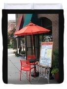 Flemington, Nj - Sidewalk Cafe Duvet Cover