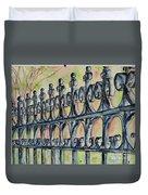 Fleur De Lisrod Iron Fence Duvet Cover