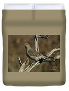 Flicker On Cedar Duvet Cover