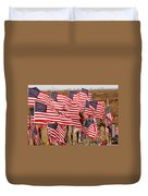 Flight 93 Flags Duvet Cover