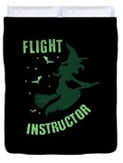 Flight Instructor Witch Halloween Costume Duvet Cover