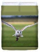 Flight Of The Barn Owl Duvet Cover