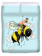 Flight Of The Bumblebee By Nicolai Rimsky Korsakov Duvet Cover