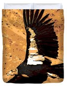 Flight Of The Condor Duvet Cover by George Pedro