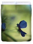 Flight Of The Lobelia  Duvet Cover