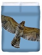 Flight Of The Red Shouldered Hawk Duvet Cover
