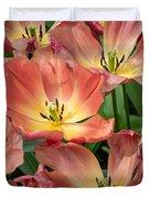 Flighty Tulips Duvet Cover